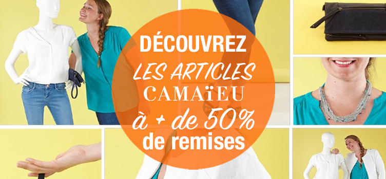 Comment obtenir les articles Camaieu à plus de 50% de réduction ?
